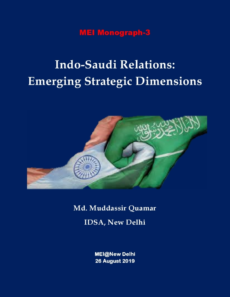 Indo-Saudi Relations: Emerging Strategic Dimensions