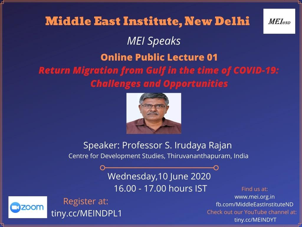 MEI Speaks: Online Public Lecture 01