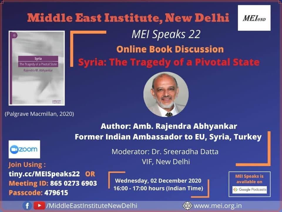 MEI Speaks 22: Online Book Discussion