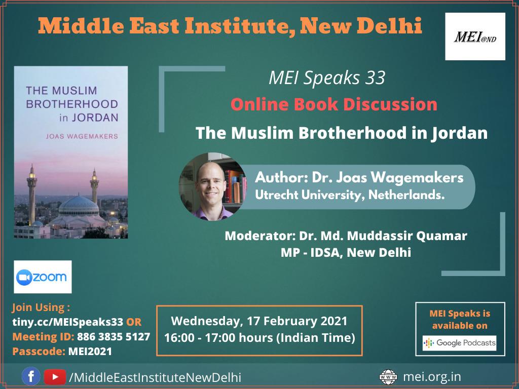 MEI Speaks 33: Online Book Discussion